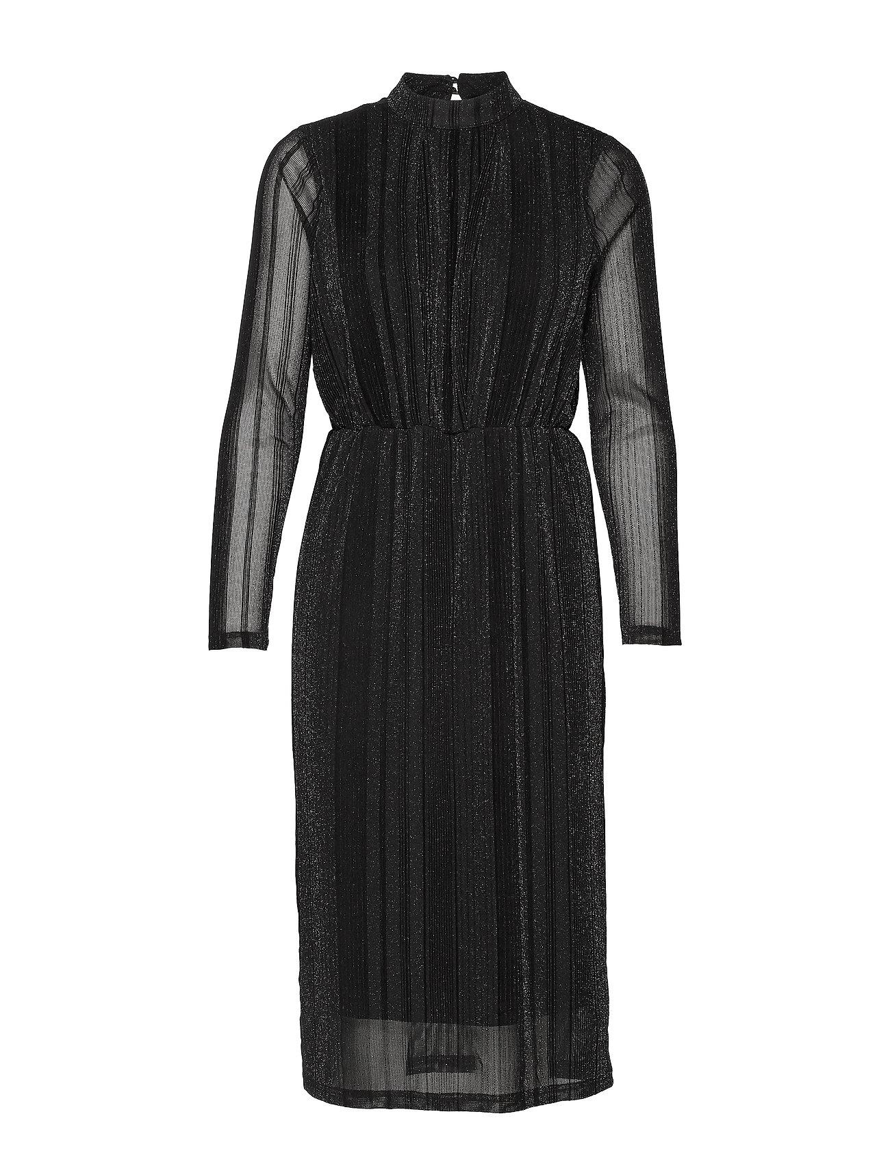YAS YASDIANE LS DRESS- SHOW - BLACK