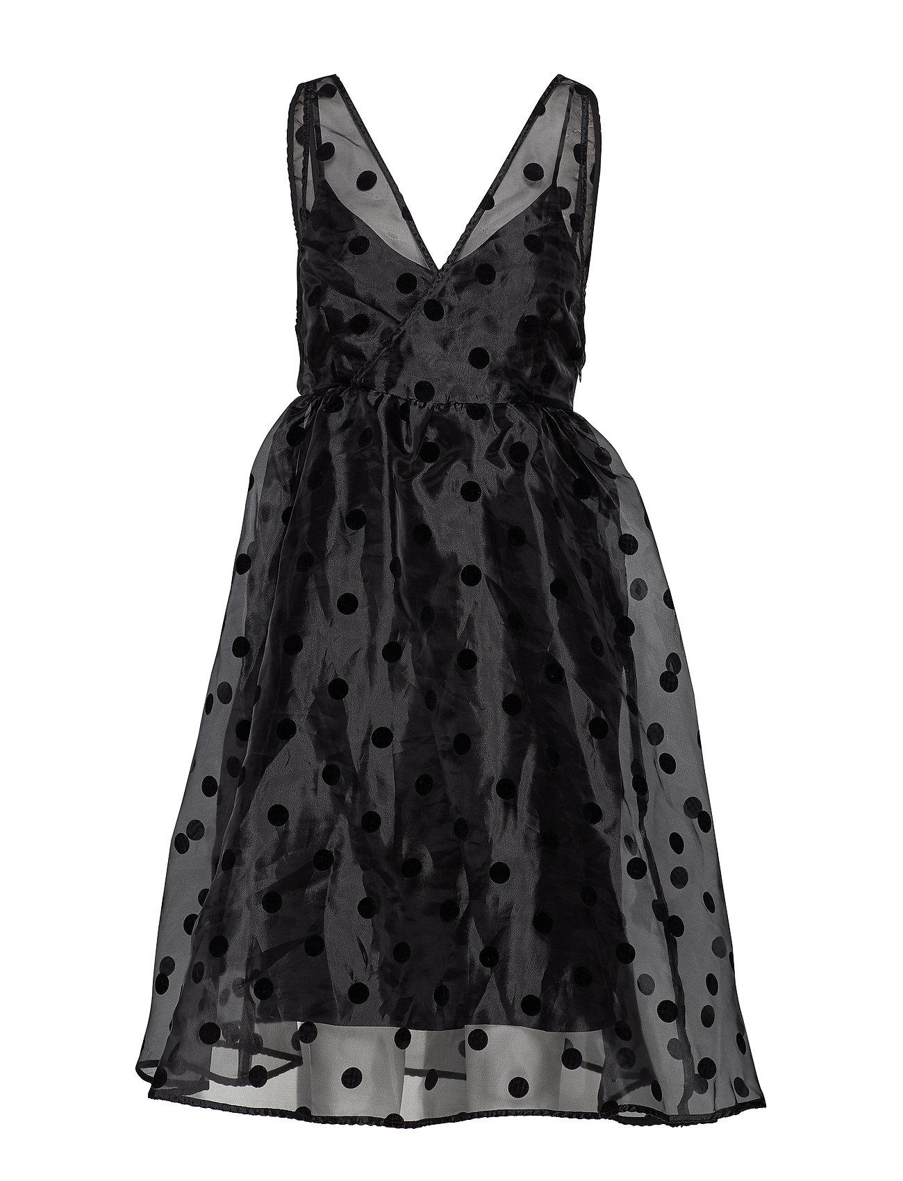 YAS YASOLIVIA SPENCER DRESS - SHOW - BLACK