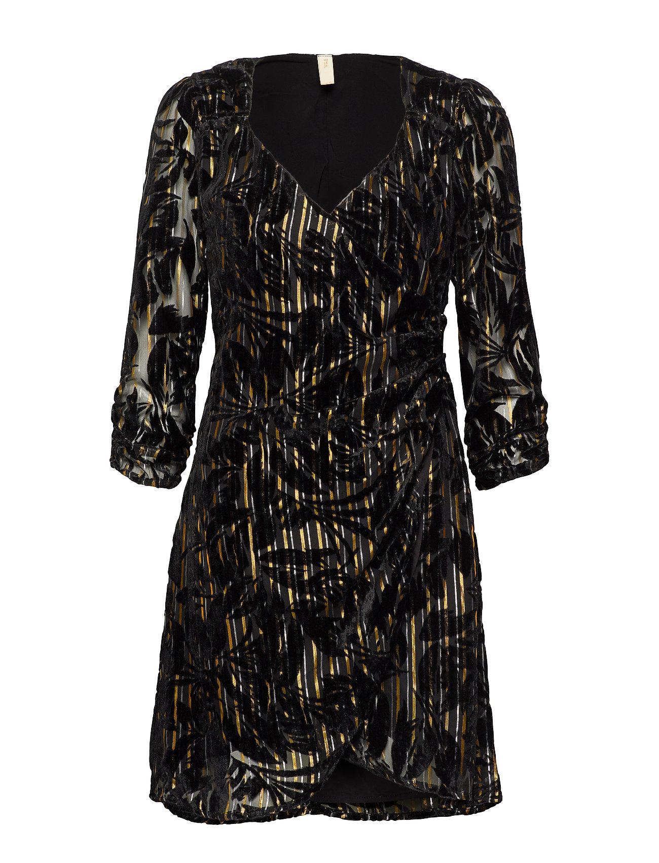 YAS YASRITA 3/4 DRESS - SHOW - BLACK