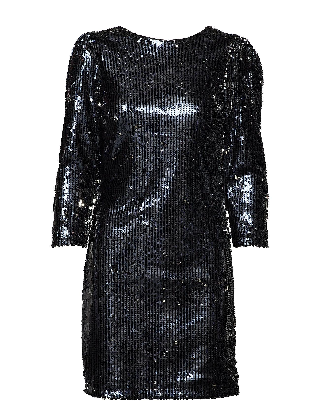 YAS YASBETTE 7/8 DRESS - SHOW - BLACK