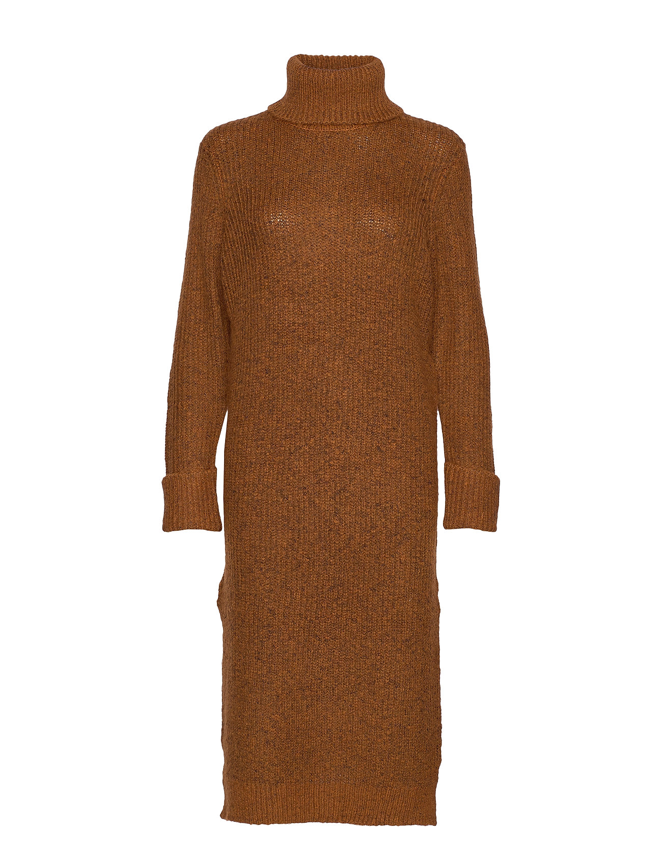 YAS YASTESS LONG KNIT PULLOVER - CARAMEL CAF