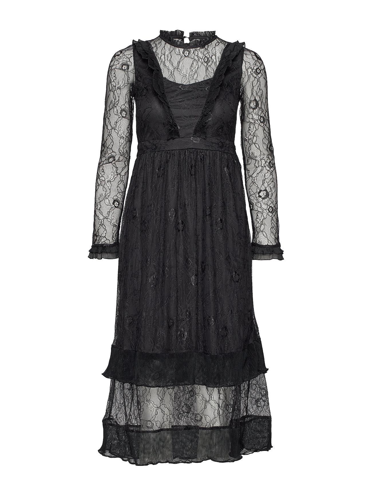 YAS YASCAROLINA LACE DRESS FT - BLACK