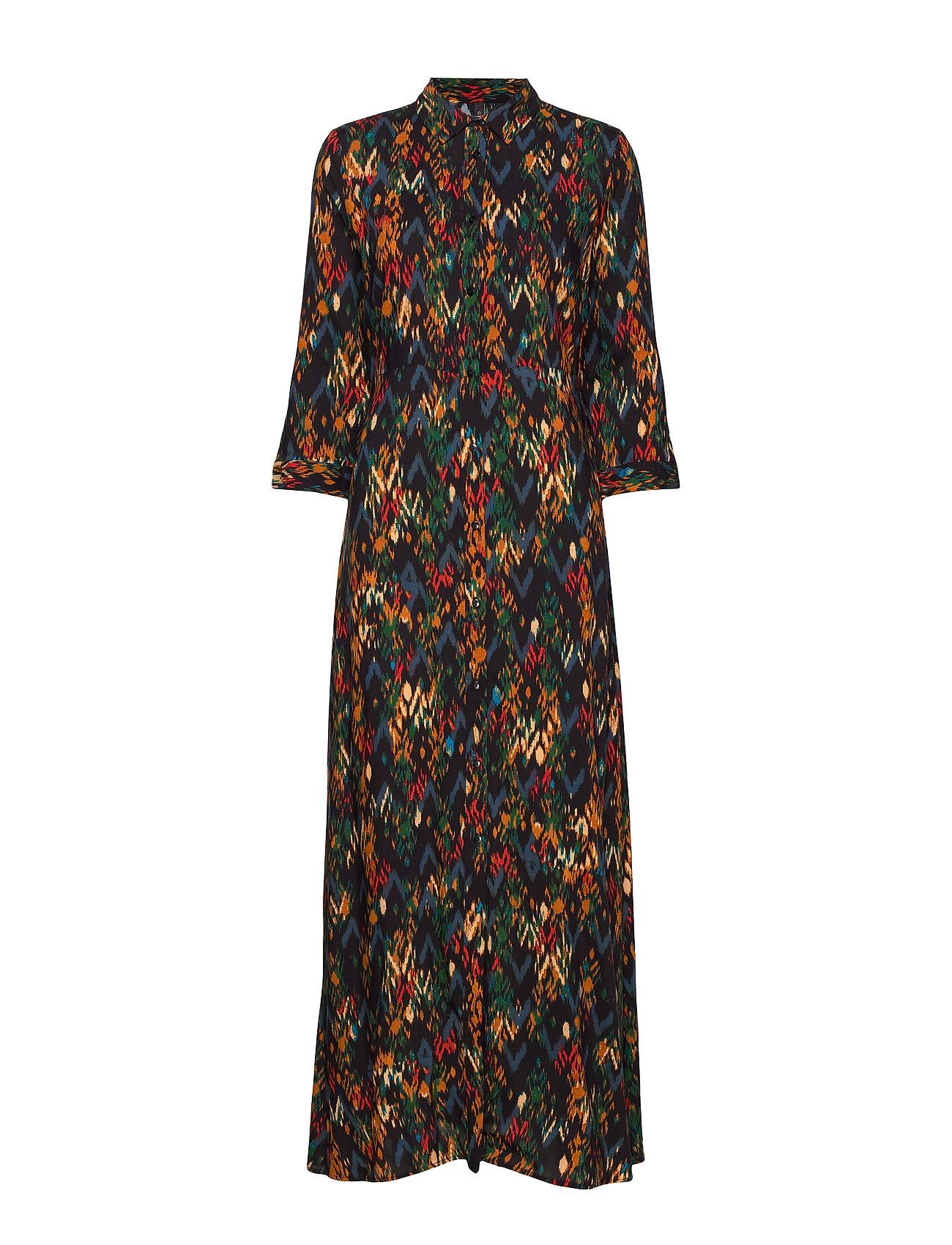 YAS YASMANON 7/8 LONG DRESS W.O. BELT FT - BLACK