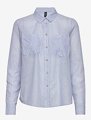 YAS - YASCLOUD LS SHIRT - ICONS S. - long-sleeved shirts - dark denim - 0