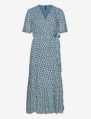 YAS - YASDAISY SS LONG DRESS - maxi dresses - blue heaven - 0
