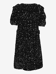 YAS - YASSEQUELLA 2/4 WRAP DRESS - SHOW - paljettkjoler - black - 1