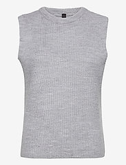 YAS - YASZAL WAISTCOAT D2D - knitted vests - light grey melange - 0