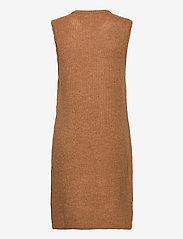 YAS - YASZAL LONG WAISTCOAT D2D - knitted vests - camel - 1
