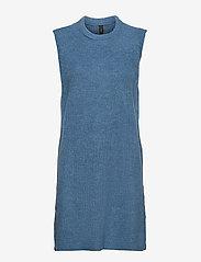 YAS - YASZAL LONG WAISTCOAT D2D - knitted vests - dusty blue - 0