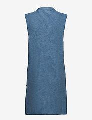 YAS - YASZAL LONG WAISTCOAT D2D - knitted vests - dusty blue - 1