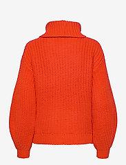 YAS - YASORANGINA LS KNIT ROLL NECK PULLOVER - turtlenecks - orange.com - 1