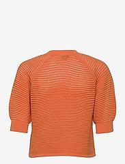 YAS - YASHENNI 2/4 KNIT PULLOVER - strikkede toppe - tangerine - 1