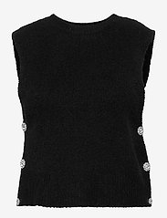 YAS - YASLINE SL KNIT VEST - D2D - knitted vests - black - 0