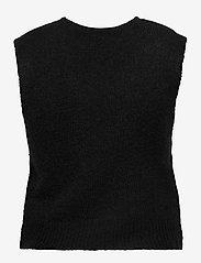 YAS - YASLINE SL KNIT VEST - D2D - knitted vests - black - 1