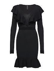 YASAYA LS KNIT DRESS - BLACK