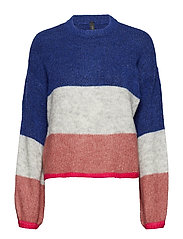 YASBLOCK KNIT PULLOVER - ROYAL BLUE