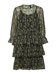 YASALVIRA 7/8  DRESS - DARKEST SPRUCE