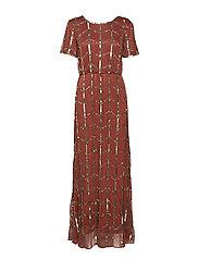 YASLORIS BEADED ANKLE DRESS - DA - HENNA