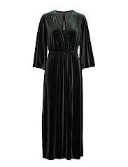 YASBALEA 3/4 ANCLE DRESS - DARKEST SPRUCE