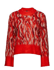YASALENA KNIT PULLOVER - FIERY RED
