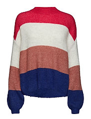 YASCLOCK KNIT PULLOVER - BRIGHT ROSE