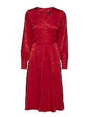 YASREEDO LS DRESS - HAUTE RED