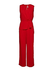 YASJENNIE ANCLE JUMPSUIT - DA - HIGH RISK RED