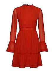 YASANIKA LS DRESS - FIERY RED