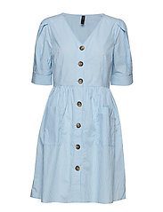 YASVILDA SS DRESS - ALASKAN BLUE