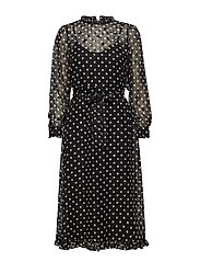 YASAMILLA LS DRESS FT - BLACK