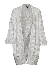 YASSUNDAY KNIT CARDIGAN - LIGHT GREY MELANGE
