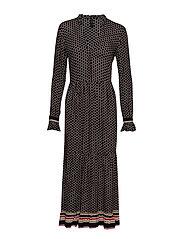 YASMEKKA LONG LS DRESS FT - BLACK