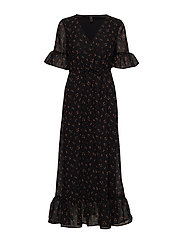 YASSOFIE 2/4 LONG DRESS D2D - BLACK