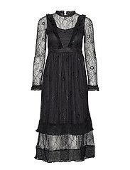 YASCAROLINA LACE DRESS FT - BLACK