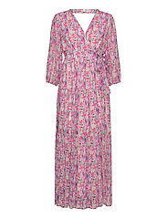 YASESMERALDA WRAP 3/4 DRESS - SHOW S. - CRADLE PINK