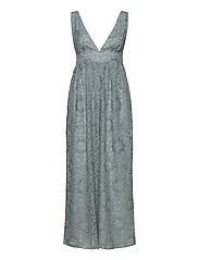 YASCHESHIRE SL MAXI DRESS - SHOW - BLUE HEAVEN