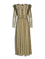 YAS YASBOA LS MESH DRESS BOOZT D2D - EVERGREEN