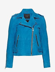 YASWILERA SUEDE JACKET - vestes en cuir - mykonos blue