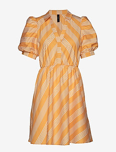 YASVISION SS DRESS - GOLDEN APRICOT
