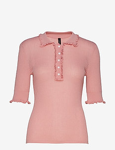 YASELISE SS KNIT TOP - QUARTZ PINK