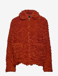 YASTANIA FAUX COAT - ROOIBOS TEA