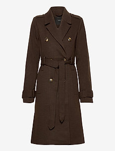 YASCHADRO WOOL COAT - trench coats - rubber