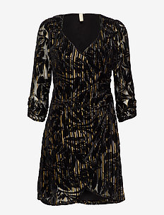 YASRITA 3/4 DRESS - SHOW - BLACK