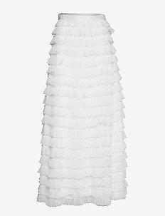 YASCHRISTINA HW MAXI SKIRT - CELEB - maxi nederdele - star white