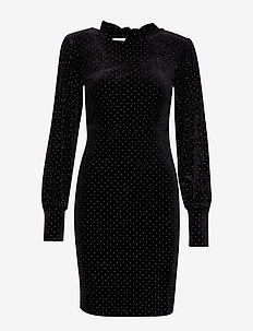 YASDOLLY LS DRESS - BLACK