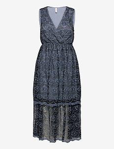 YASTIANA SL MIDI DRESS - SHOW - blondekjoler - dusty blue
