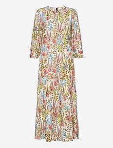 YASBOTANICA 3/4 LONG DRESS S. - maxiklänningar - eggnog