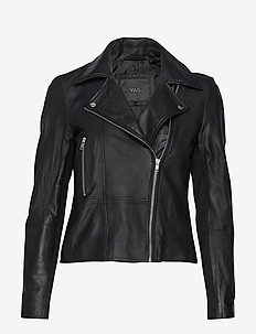 YASSOPHIE LEATHER JACKET NOOS - læderjakker - black