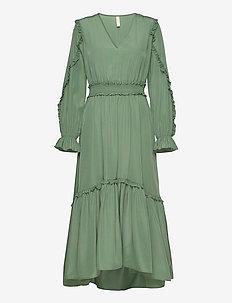 YASORLEANS LS DRESS - SHOW - maxi sukienki - dark ivy
