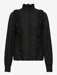 YASARIANNE LS SHIRT CA - overhemden met lange mouwen - black